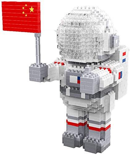 Mini Bloques De Construcción DIY Bloques De Construcción Dibujos Animados Astronauta Modelo De Juguete Ladrillos Figura De Acción Juguetes para Niños Regalos,A