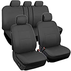 PROTECTS AGAINST STAINS – These are the perfect seat covers for your new car, or even a car that's just new-to-you. Our car seat covers provide protection against spills and stains that might occur inside of your vehicle. BREATHABLE MATERIALS – We us...
