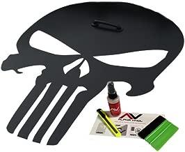 Hood decal Punisher Skull Blackout Matte Black w/ Install kit Fits Jeep Wrangler JK TJ YJ XJ Universal (Vinyl)