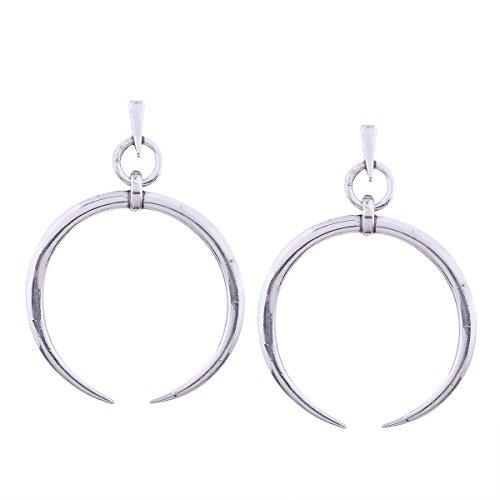 Pendientes de estilo simple para mujer pendientes salvajes Personalidad exagerada de metal pendientes de media luna grandes