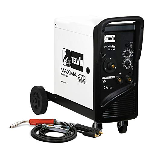 Telwin Elements MAXIMA 270 Multiprozess SYNERGIC Schutzgas Schweißgerät - 20 bis 250 A - 230 V - Set inkl. Schlauchpaket und Schweißgarnitur