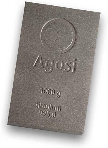 1000g Buntmetallbarren von Agosi Kupferbarren Messingbarren Bronzebarren Aluminiumbarren Titanbarren (Titanbarren)