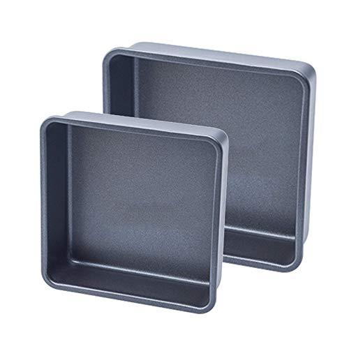HYCy Juego de 2 moldes Cuadrados para Pasteles, Molde Cuadra