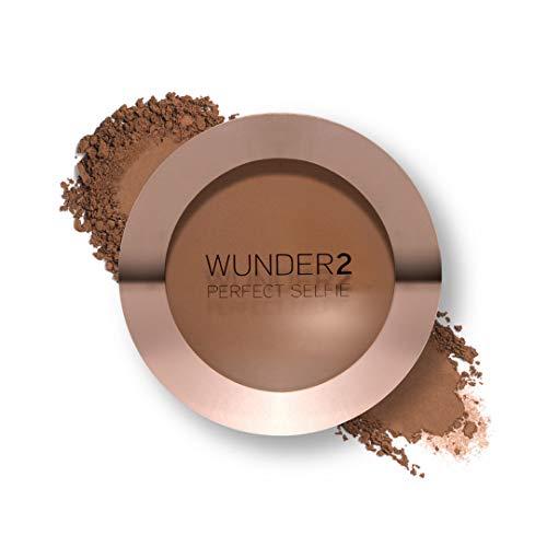 WUNDER2 PERFECT SELFIE Bronzing Veil Makeup-Fixierungspuder, Puderdose, Airbrush-Look, mattiert, kaschiert, konturiert, tönt, Bronzer für natürlich frische Haut