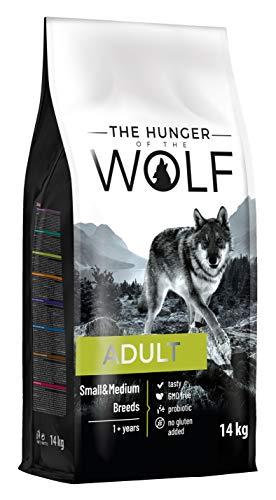 The Hunger of The Wolf Alimento seco para perros adultos de razas pequeñas y medianas, con pollo, vitamina E y C, 14 kg