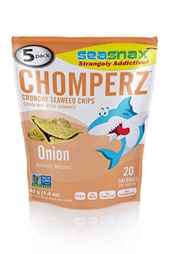 SeaSnax Mini Chomperz Crunchy Seaweed Chips Onion, 0.28 oz (Pack of 5)