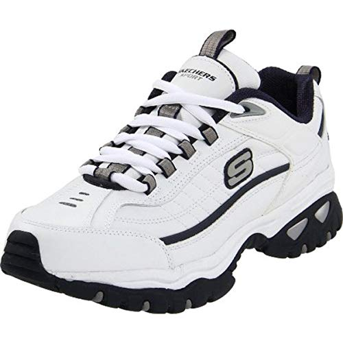 Skechers mens Energy Afterburn road running shoes, White/Navy, 13 X-Wide US