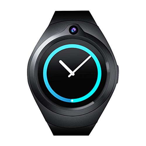 S216 3G GPS Smart Watch Telefon 1,39 Zoll Android 5.1 MTK6580 Quad Core 512 MB RAM 8 GB ROM 2.0MP Kamera Blautooth Pulsmesser Uhr Unterstützung WiFi GPS Blautooth SIM (Schwarz)