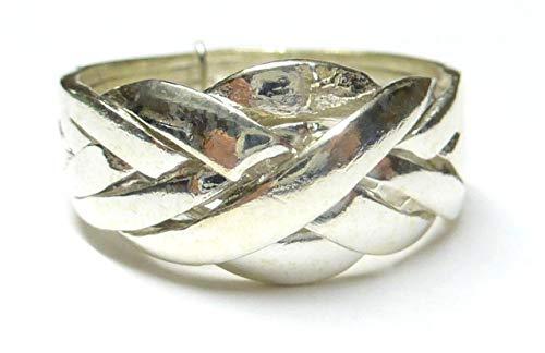Silberringe, Puzzle Ring, 4 - teilig, Größe 65-20.7, aus 925 Sterlingsilber gearbeitet, Geschenk, Schmuck, Unisex