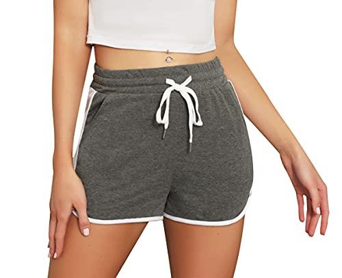 Enjoyoself Pantaloncini Donna Sportivi, Pantaloni Corti da Pigiama, Pantaloncini per Yoga Correre Palestra Spiaggia Viaggio Vacanza