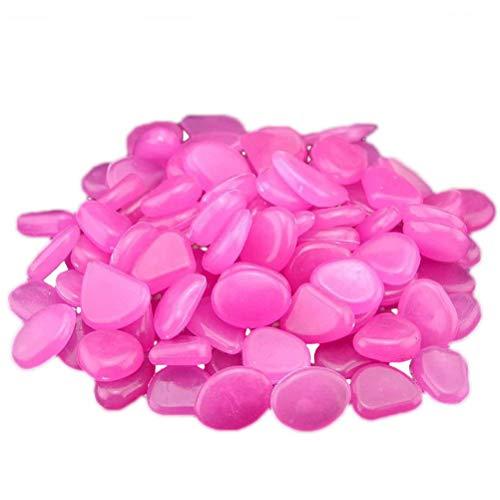 Chilits Pack of 50 Luminous Pebbles Fluorescent Stones, Luminous Stones Garden, Pebbles Fluorescent Pebble Stones, Light Pebbles for Aquariums, Landscape Decoration, Potted Plants - Optional Color