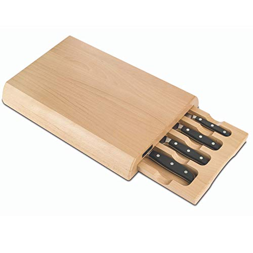 Arcos Serie Manhattan - Küchenmesser-Set 4 Stück für die Schublade - Klinge aus Nitrum geschmiedetem Edelstahl - HandGriff Polyoxymethilen (POM) - Gummiholz