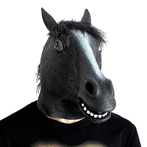 SLM-max Halloween masker, maskerade party paardenhoofd masker, spel leuke styling rekwisieten, latex materiaal