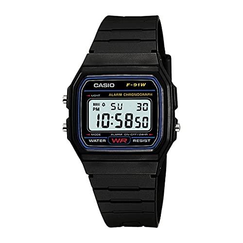 Casio Youth-Digital Black Small Dial Men's Watch - F-91W-1DG (D002)