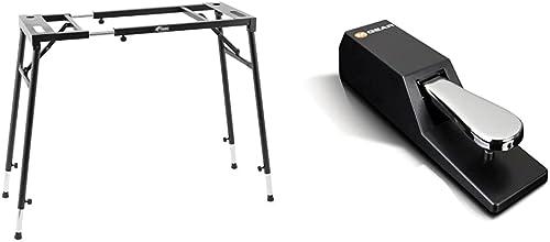 Tiger KYS21-BK Support pour Clavier réglable - Noir & M-Audio SP-2 - Pédale de Sustain Universelle de Type Piano pour...