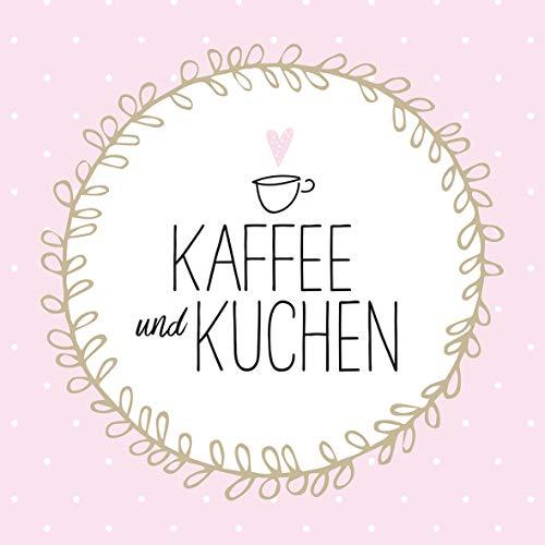 Home Collection Servietten (2er Set / 40Stück) 3-lagig 33x33cm Kaffee und Kuchen