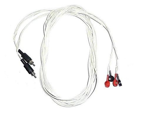 Kit di 2 Cavi bipolari RCA e Clip 4mm ricambi per elettrostimolatore Biosan, Amerika, Samas ecc.