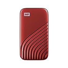 WD My Passport SSD 2 TB mobile Festplatte (NVMe-Technologie, USB-C und USB 3.2 Gen-2 kompatibel, Lesen 1050 MB/s, Schreiben 1000 MB/s) rot©Amazon