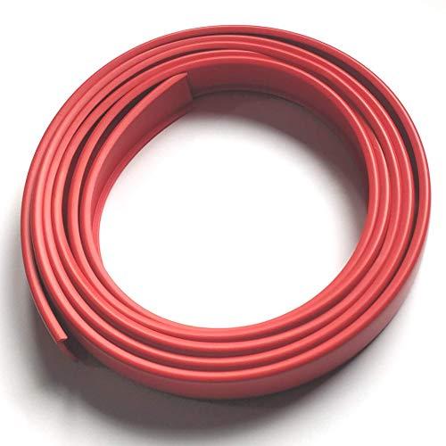 2R16 Cubrecanto de plástico flexible en U (umolding) (16 mm, ROJO). Tira de 2 metros.
