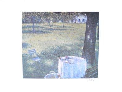 Lutz Münzfeld Poster Bild Kunstdruck Koeln - Blaues Fenster (handsigniert) 80x60cm