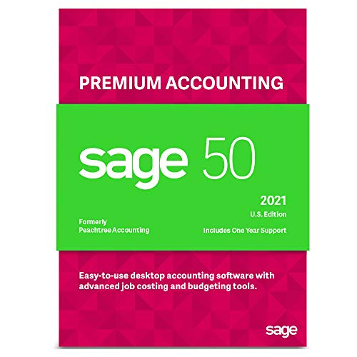 Sage Software Sage 50 Premium Accounting 2021 U.S. 1-User Small Business Accounting Software