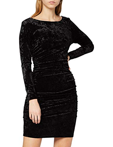 Ivy Revel DE Damska aksamitna sukienka mini na imprezę, Czarny (czarny 1), S