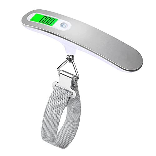 oshhni Balança eletrônica portátil para malas, balanças digitais penduradas para pesagem de bagagens para viagens