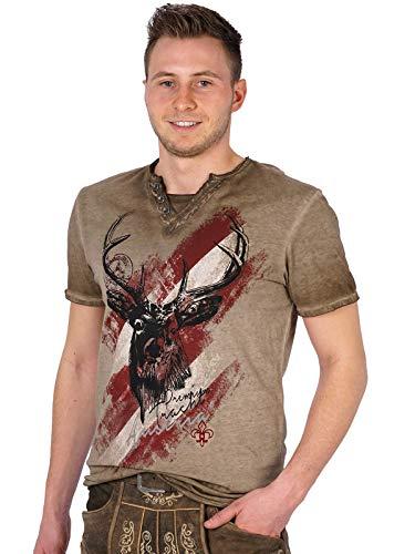 Hangowear Trachten T-Shirt Ferdi Austria braun, XL