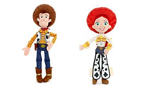 Disney Paquete – 2 artículos Toy Story – Woody Mini felpa de 12 pulgadas y Jessie Mini Felpa de 11 pulgadas