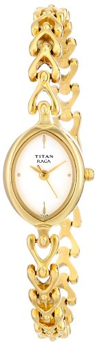 Titan Raga Analog White Dial Women's Watch -NK2370YM01
