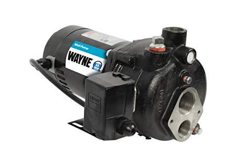 Wayne CWS75 3/4 HP Convertible Jet Well Pump, Upgraded 0.75, Black