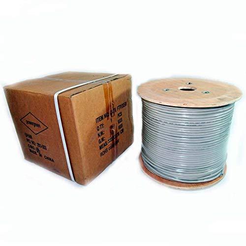 Powergreen CAB-06305-BFT Bobina de Cable Cat 6 FTP 305 Metros, Multicolor