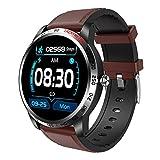 XYZK W3 Reloj inteligente para hombres con oxígeno en sangre ECG PPG Presión arterial Monitoreo de ritmo cardíaco Deportes Fitness Watch Podómetro Impermeable Reloj deportivo para IOS Android (F)