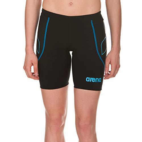 arena Damen Triathlon Jammer Powerskin ST (Schnelltrocknend, Perfekte Kompression, Weniger Wasserwiderstand), Black-Turquoise (55), S