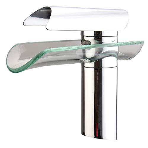 Grifo mezclador de cristal para lavabo de baño, grifo mezclador de cocina