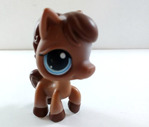 Horse #337 (No Saddle: Brown) - Littlest Pet Shop (Retired) Collector Toy - LPS Collectible Replacement Single Figure - Loose (OOP Out of Package & Print)