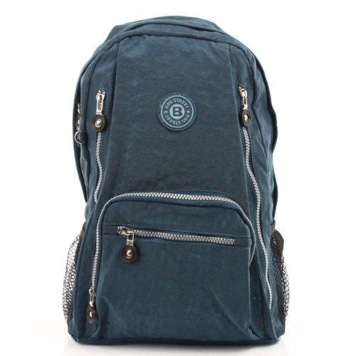 Wanderrucksack Freizeitrucksack blau Nylon BAG STREET