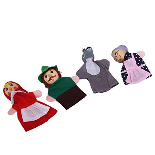 4pcs Juguete Mano Marionetas Dedos Figuras Caperucita