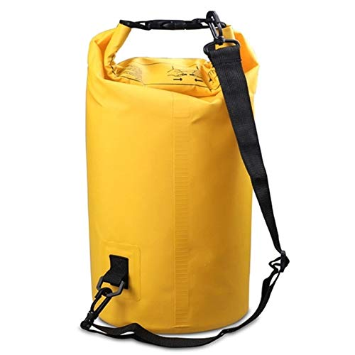 Leisure Sports Travel Business Backpack Outdoor Waterproof Single Shoulder Bag Dry Sack PVC Barrel Bag, Capacity: 5L PingGongHuaKeJiYouXianGongSi (Color : Yellow)