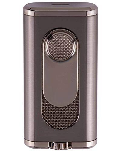 Xikar Verano Flat Flame Cigar Lighter, Attractive Gift Box, Elegant Metal Construction, Gunmetal