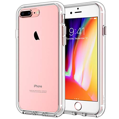 JETech Case for iPhone 8 Plus iPhone 7 Plus, Shock-Absorption Bumper Cover, Anti-Scratch Clear Back, HD Clear