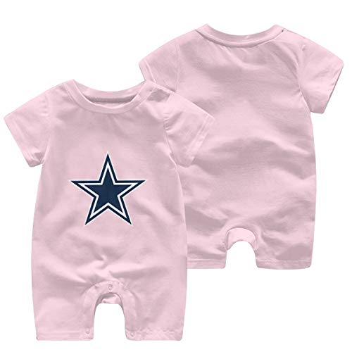 Baby-Strampler mit kurzen Ärmeln, Dallas Cowboys Star SVG Gr. 18 Monate, rose