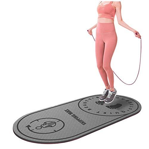 Xmansky Alfombrilla para Saltar de Cuerda, Esterilla de Yoga, absorción de Golpes, Mudo, Baile, Yoga, Ejercicio y Fitness, Equipo de Ejercicio para Gimnasio en casa