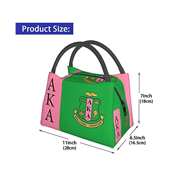 Alpha Kappa Alpha Portable Lunch Bag For Women,Reusable Lunch Tote Insulated Cooler Bag Lunch Box Handbag For Women Men…