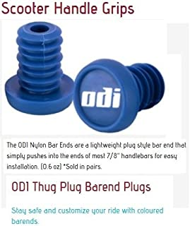 Odi Bar End Plugs For Scooters and BMX Bikes 1 Pair (BLUE)
