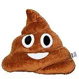 Emoji Poo Face Emoticon Cushion Stuffed Plush Soft Pillow, Official Certified, EvZ 35cm Brown