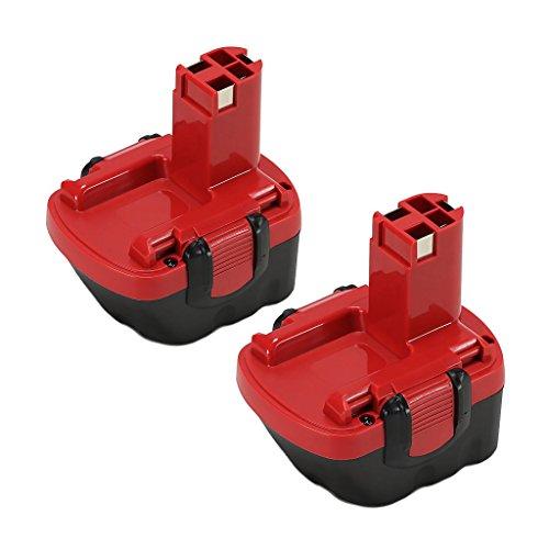 2x POWERAXIS für Bosch Akku 12V 3.0Ah Ni-MH Ersatzakku für Bosch PSR 12-2 PSR 1200 2607335261 2607335274 2607335375 GSR 12 VE-2 PSR 12 VE-2 BAT043 2607335273 2607335709 2607335541 2607335262