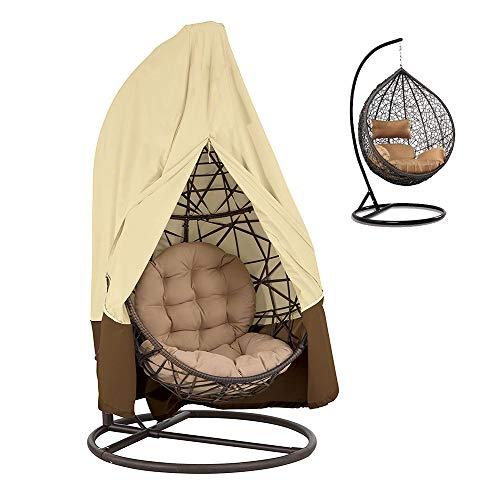 Dandelionsky Housse de Chaise de Jardin en rotin à Suspendre en Tissu Oxford imperméable avec Fermeture Éclair élastique