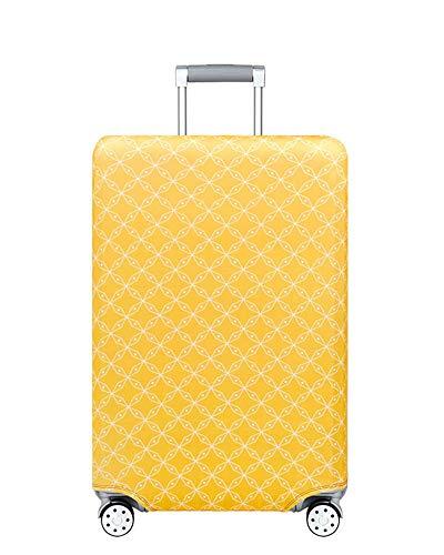 Kofferhülle Elastisch 18-32Zoll Kofferschutzhülle Gepäck Cover Reisekoffer Hülle Kofferschutz Luggage Cover Gepäckabdeckung Kofferschutzhülle mit Reißveschluss (Gansgelb, L)