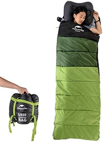 Mishuai Sac de Couchage Adulte Ultra léger extérieur Camping Camping Peut être Cousu Double Sac de Couchage